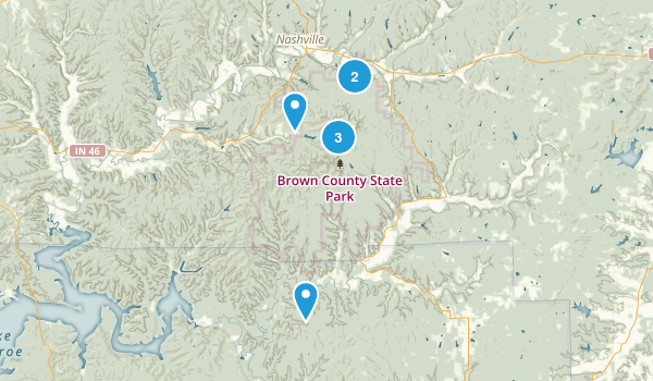 Brown County State Park Dogs On Leash Map