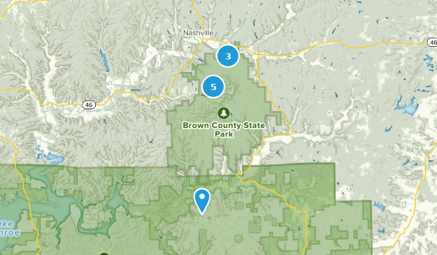 Brown County State Park Mountain Biking Map