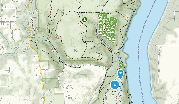 Afton State Park Hiking Map