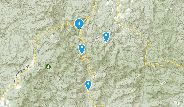 Vogel State Park Nature Trips Map
