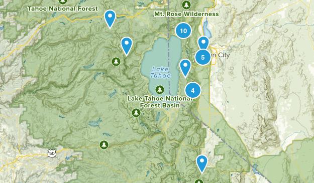 Lake Tahoe-Nevada State Park Birding Map