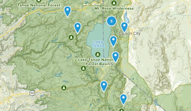 Lake Tahoe-Nevada State Park Trail Running Map