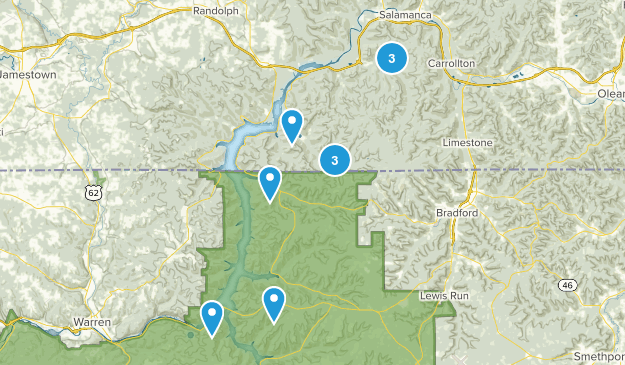 Allegany State Park Hiking Map
