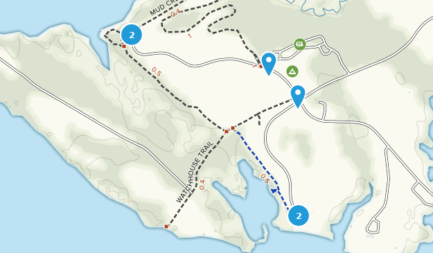 Belle Isle State Park Hiking Map