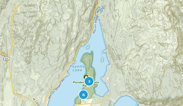 Ponderosa State Park Hiking Map
