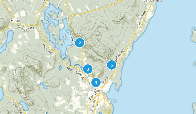 Camden Hills State Park Nature Trips Map