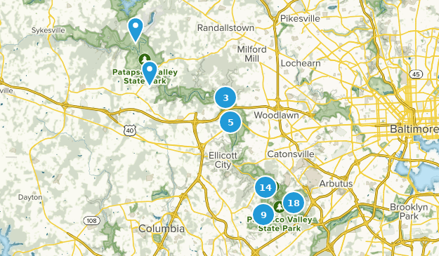 Patapsco Valley State Park Dogs On Leash Map