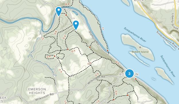 Susquehanna State Park Mountain Biking Map