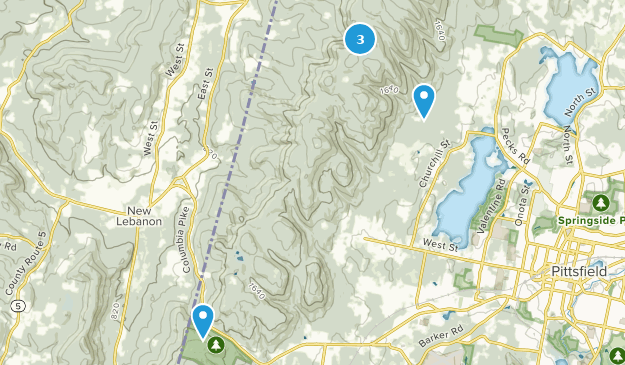 Pittsfield State Forest Hiking Map
