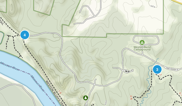 Weston Bend State Park Kid Friendly Map