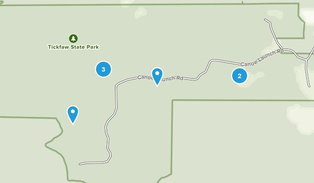 Tickfaw State Park Hiking Map