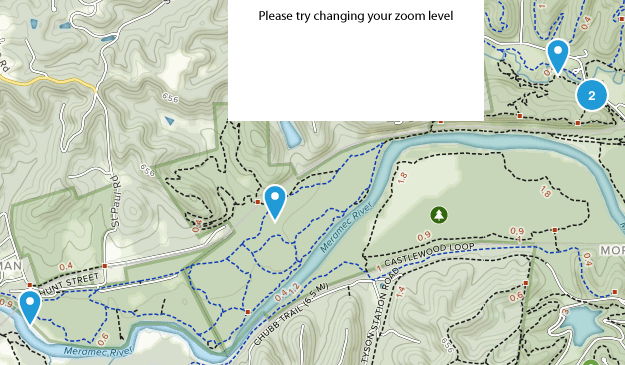 Castlewood State Park Dogs On Leash Map