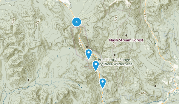 Crawford Notch State Park Dogs On Leash Map