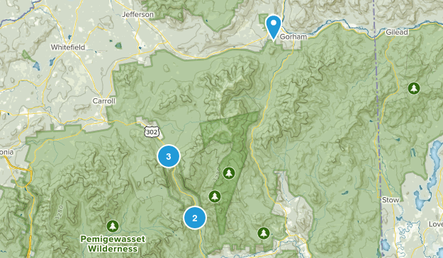 Crawford Notch State Park Trail Running Map