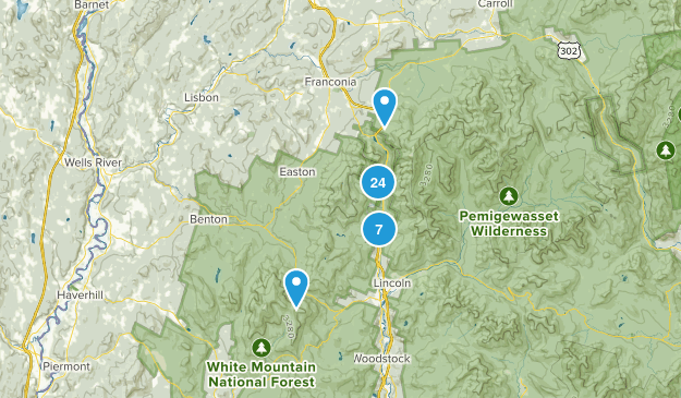 Franconia Notch State Park Views Map