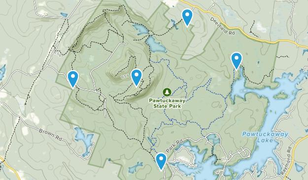 Pawtuckaway State Park Trail Running Map