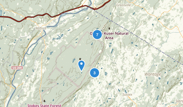 High Point State Park Hiking Map