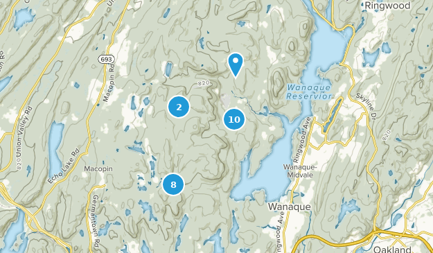 Norvin Green State Forest Hiking Map