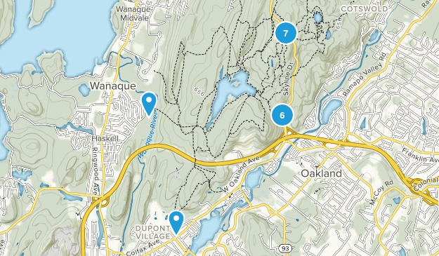 Ramapo Mountain State Forest Hiking Map