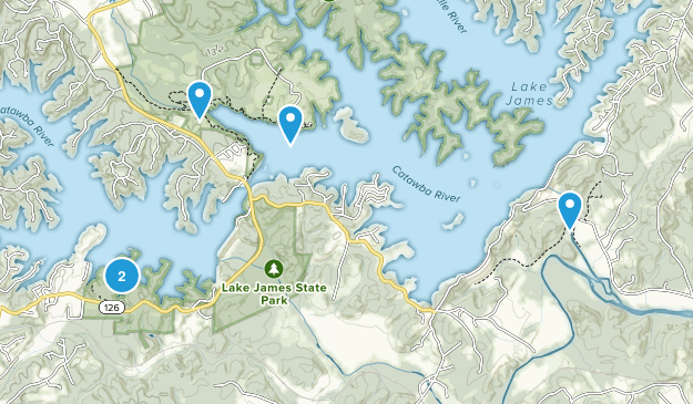 Lake James State Park Nature Trips Map