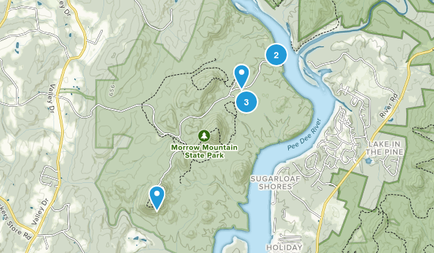 Morrow Mountain State Park Nature Trips Map
