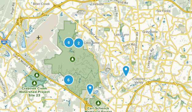William B. Umstead State Park Hiking Map