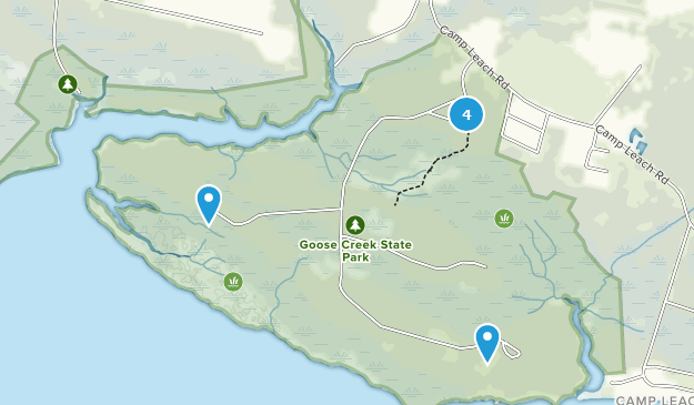 Goose Creek State Park Nature Trips Map