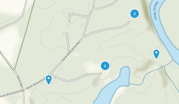 Parc d'État des falaises de la Neuse Bird Watching Map