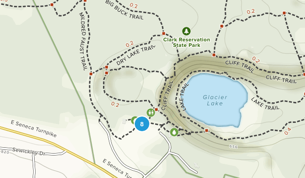Clark Reservation State Park Hiking Map