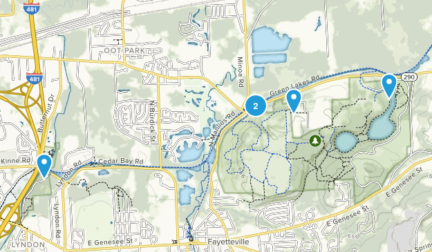 Green Lakes State Park Hiking Map