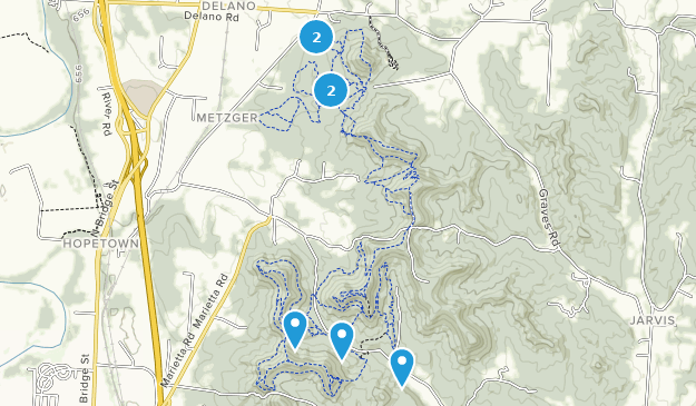 Great Seal State Park Hiking Map