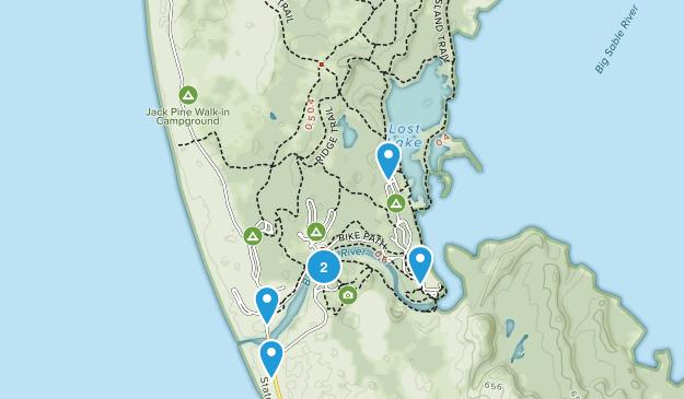 Ludington State Park Hiking Map