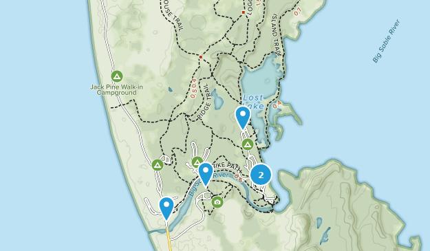 Ludington State Park Nature Trips Map