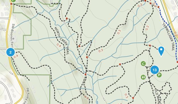 Tryon Creek State Natural Area Birding Map