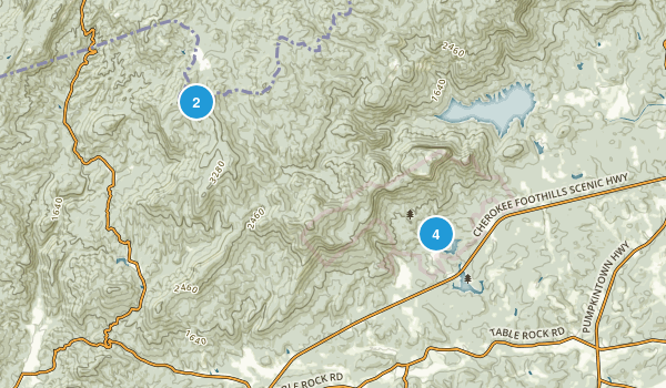 Best Waterfall Trails In Table Rock State Park Photos - Sc waterfalls map
