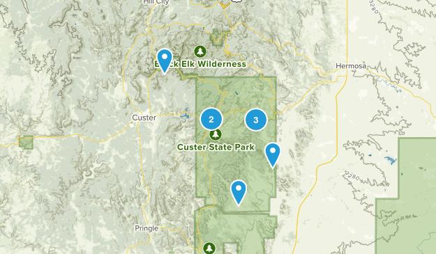 Parc d'État de Custer Nature Trips Map