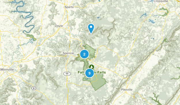 Fall Creek Falls State Park Nature Trips Map