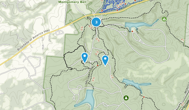 Montgomery Bell State Park Nature Trips Map