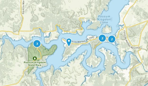 Possum Kingdom State Park Hiking Map