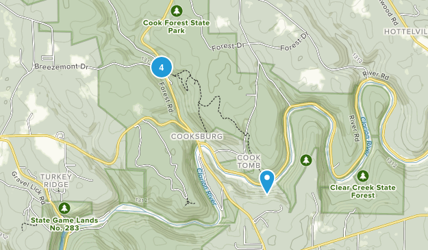 Cook Forest State Park Trail Running Map