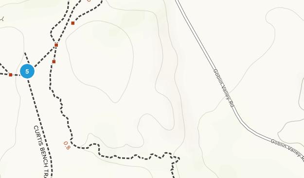 Parc d'état de Goblin Valley Mountain Biking Map