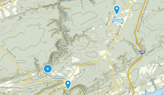 Lehigh Gorge State Park Hiking Map