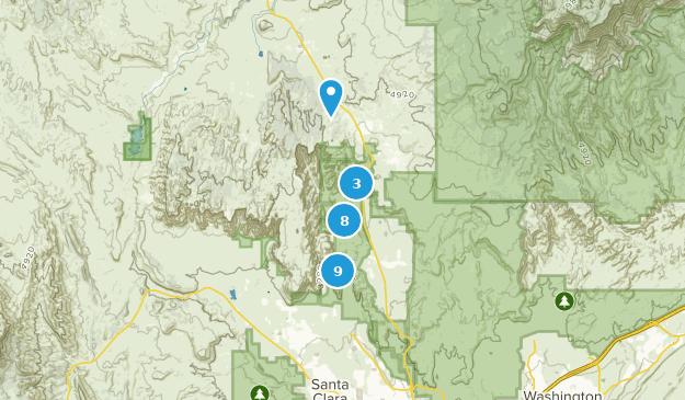 Parc d'état de Snow Canyon Bird Watching Map