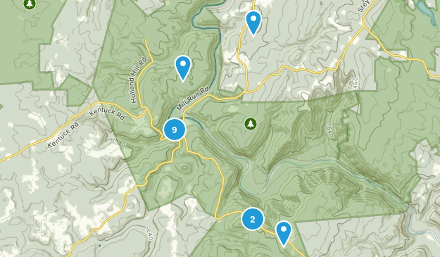 Ohiopyle State Park Nature Trips Map
