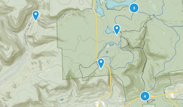 Ricketts Glen State Park Hiking Map