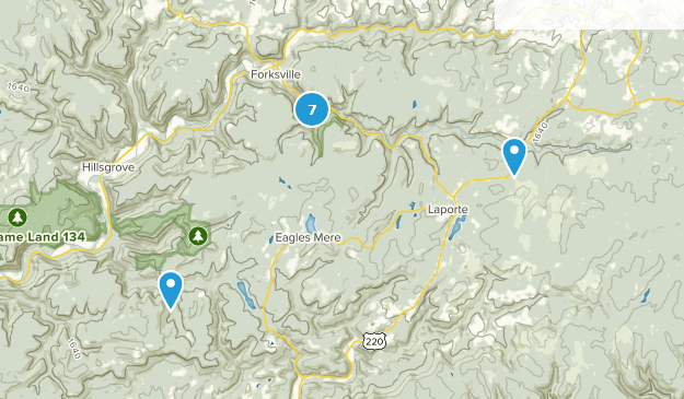 Worlds End State Park River Map
