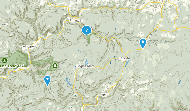 Worlds End State Park Views Map