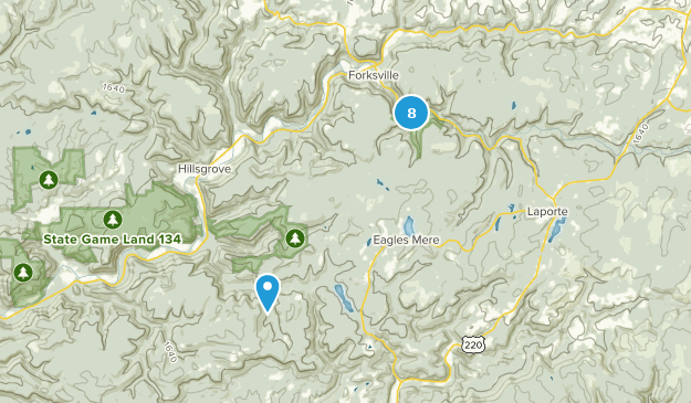 Worlds End State Park Walking Map