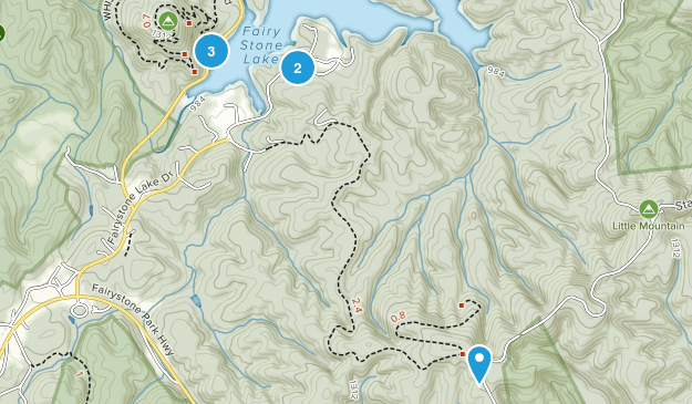 Fairy Stone State Park Hiking Map