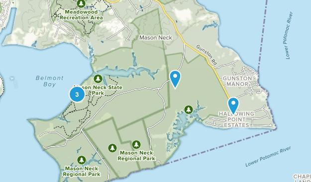 Parc d'État Mason Neck Bird Watching Map